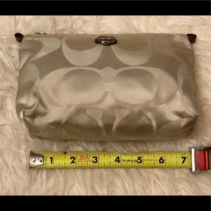 Coach Gold Logo Convertible Clutch Bag